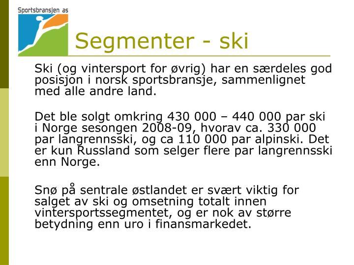 Segmenter - ski