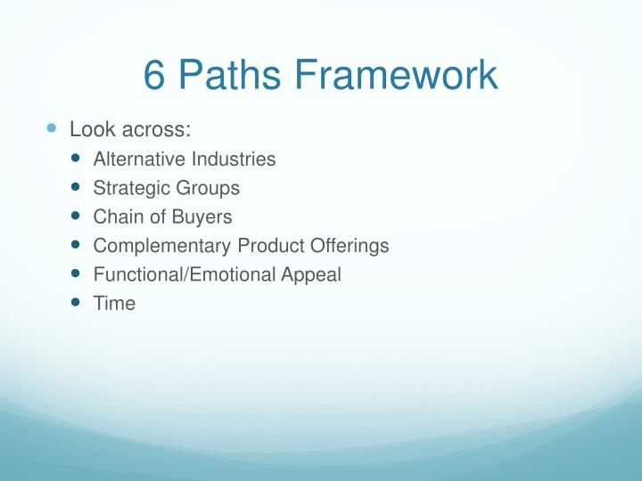 6 Paths Framework