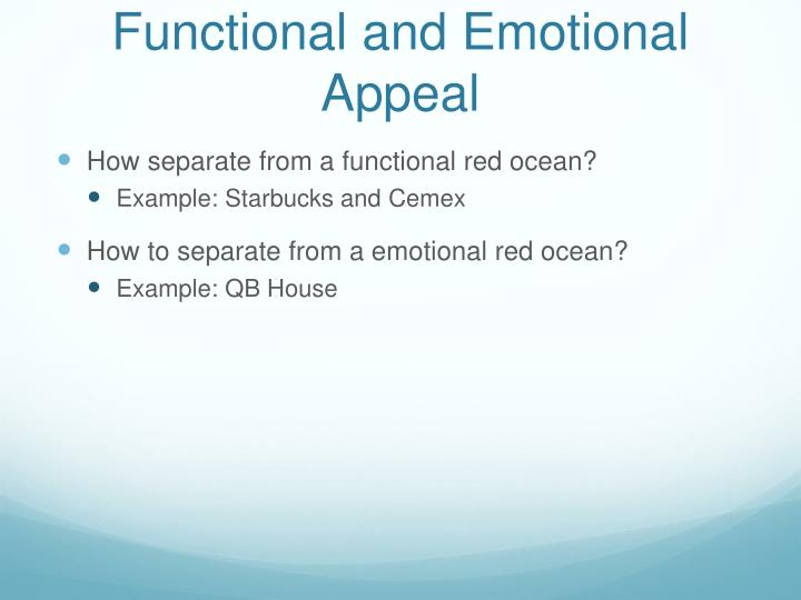 Functional and Emotional Appeal