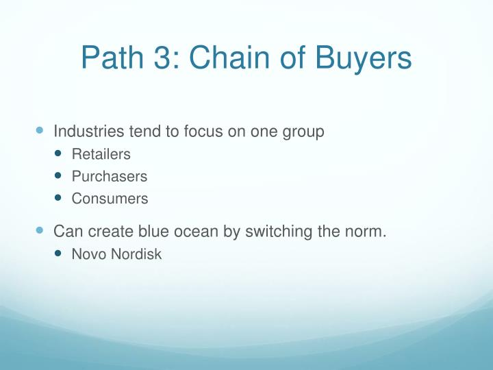 Path 3: Chain of Buyers
