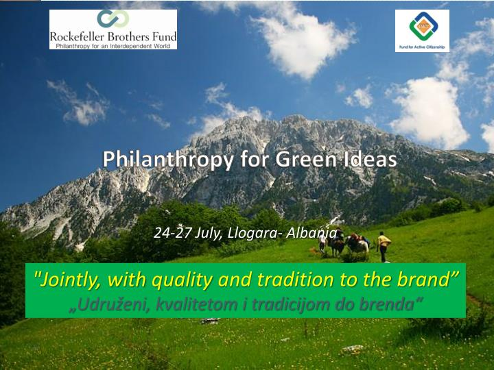 Philanthropy for Green Ideas