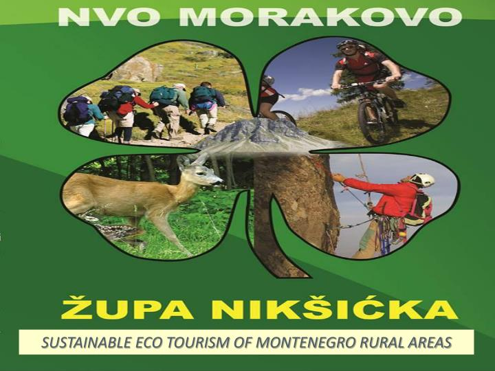 SUSTAINABLE ECO TOURISM OF MONTENEGRO RURAL AREAS