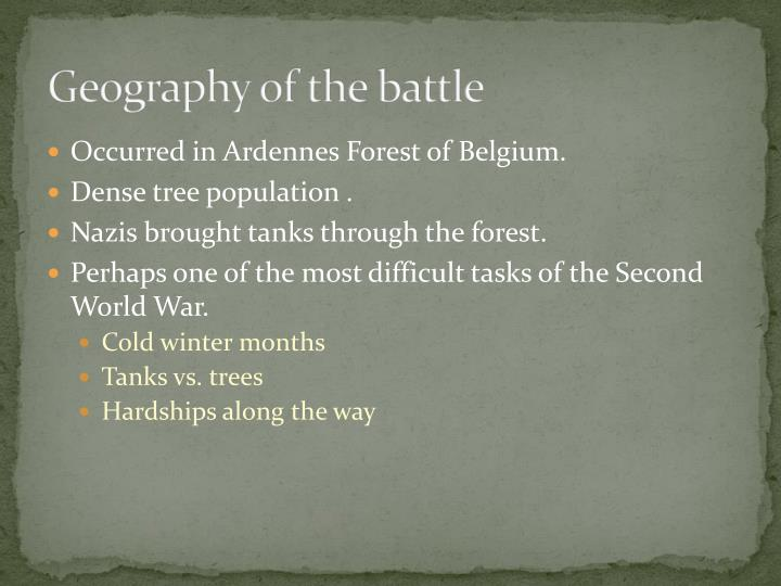 Geography of the battle