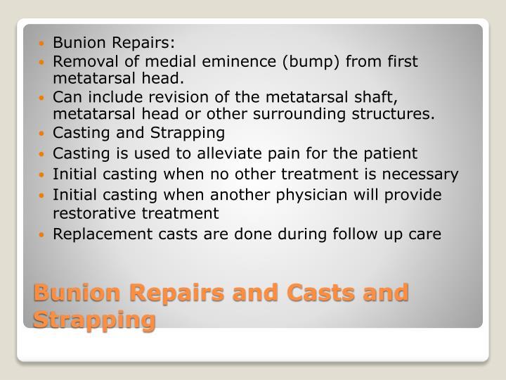 Bunion Repairs: