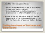 coding treatment of fractures and dislocations