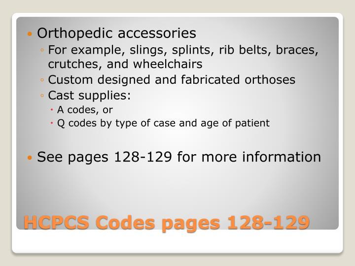 Orthopedic accessories