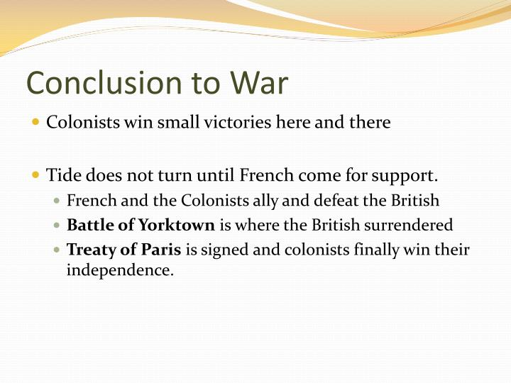 Conclusion to War
