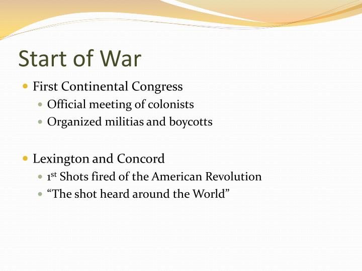 Start of War