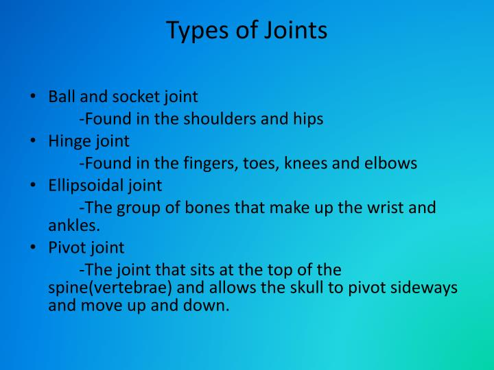 Types of Joints