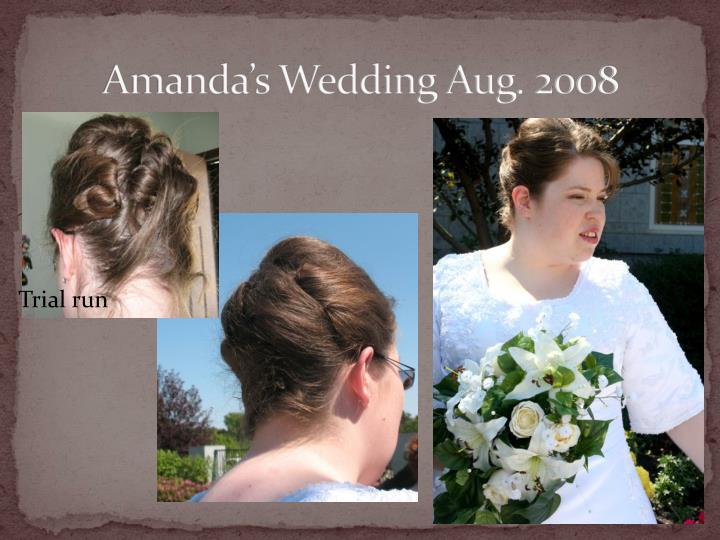 Amanda's Wedding Aug. 2008