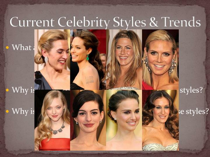 Current Celebrity Styles & Trends