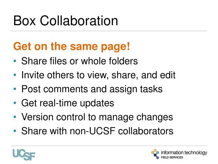 Box Collaboration