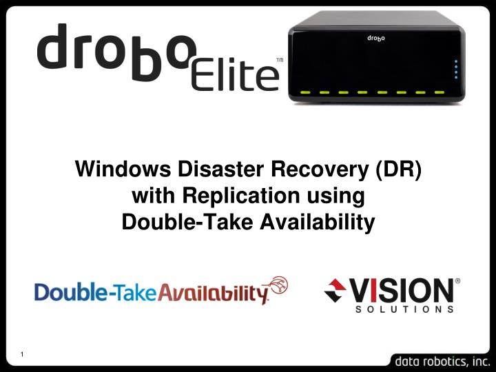 Windows disaster recovery dr with replication using double take availability