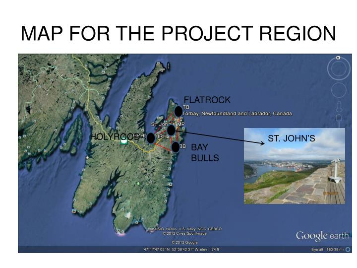 MAP FOR THE PROJECT REGION