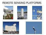 remote sensing platforms1