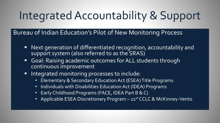 Integrated Accountability & Support