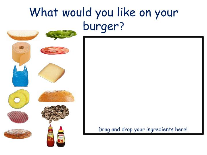 What would you like on your burger