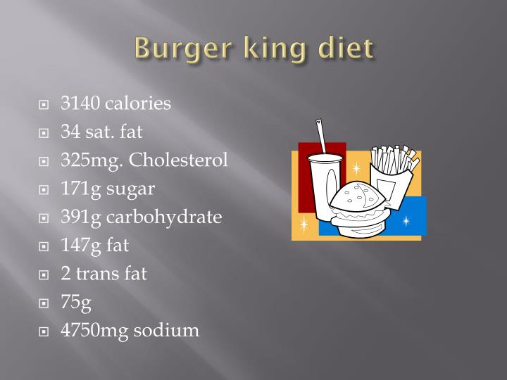 Burger king diet