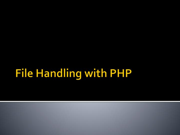 File handling with php
