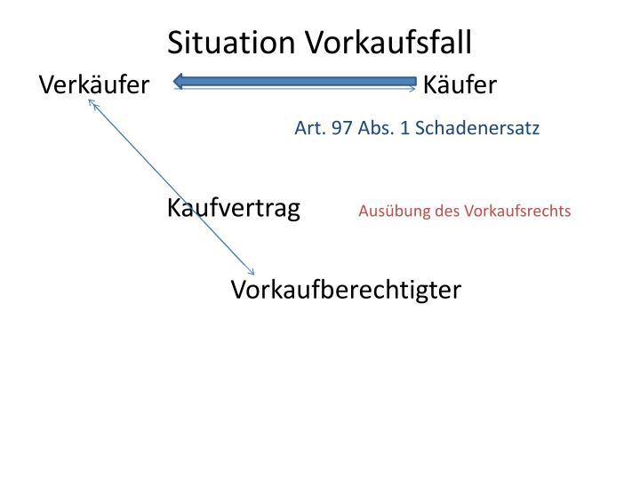 Situation Vorkaufsfall