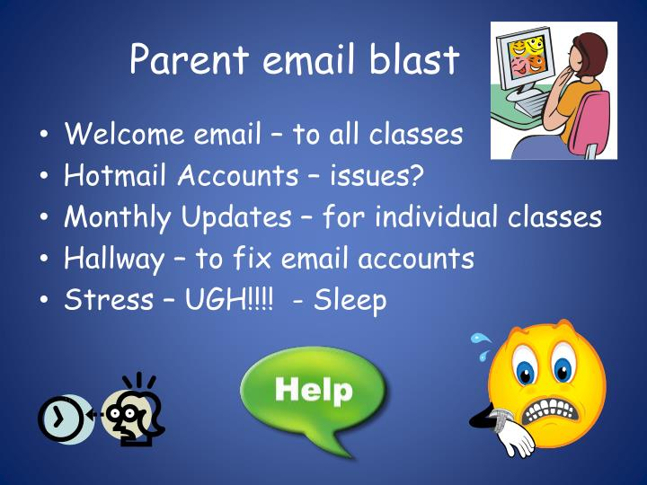 Parent email blast