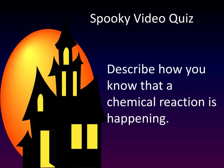 Spooky Video Quiz