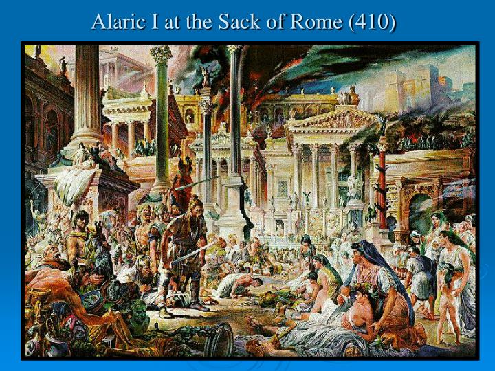 Alaric i at the sack of rome 410