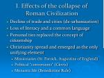 i effects of the collapse of roman civilization