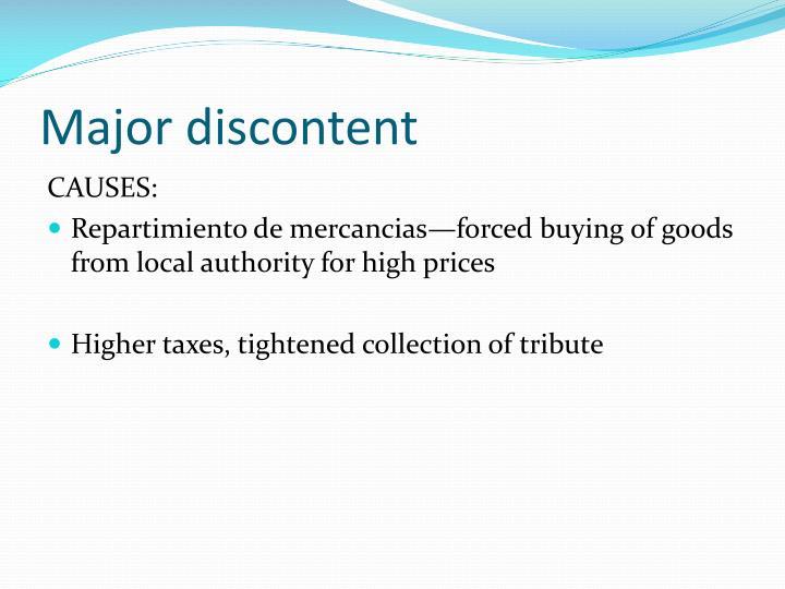 Major discontent