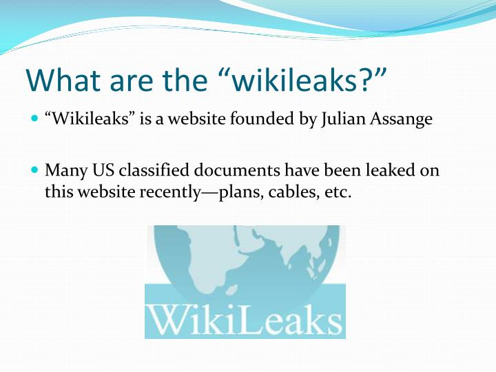 What are the wikileaks