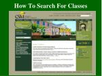 how to search for classes