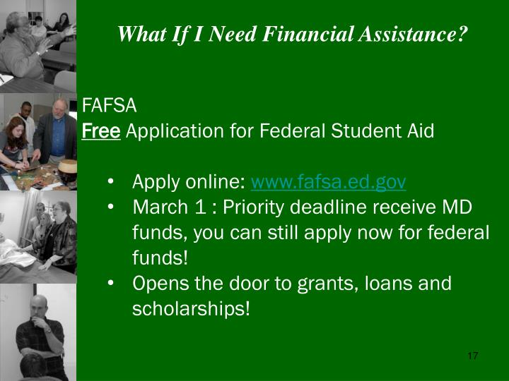 What If I Need Financial Assistance?