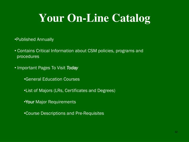 Your On-Line Catalog