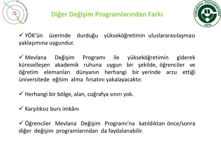 Diğer Değişim Programlarından Farkı