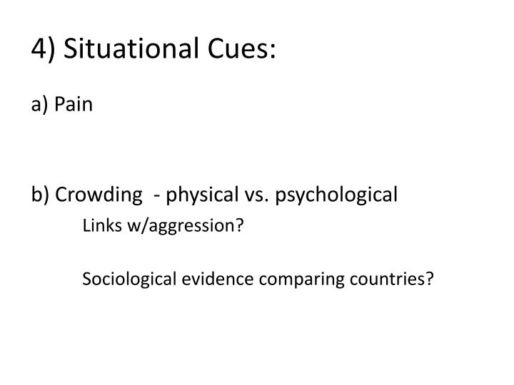 4) Situational Cues: