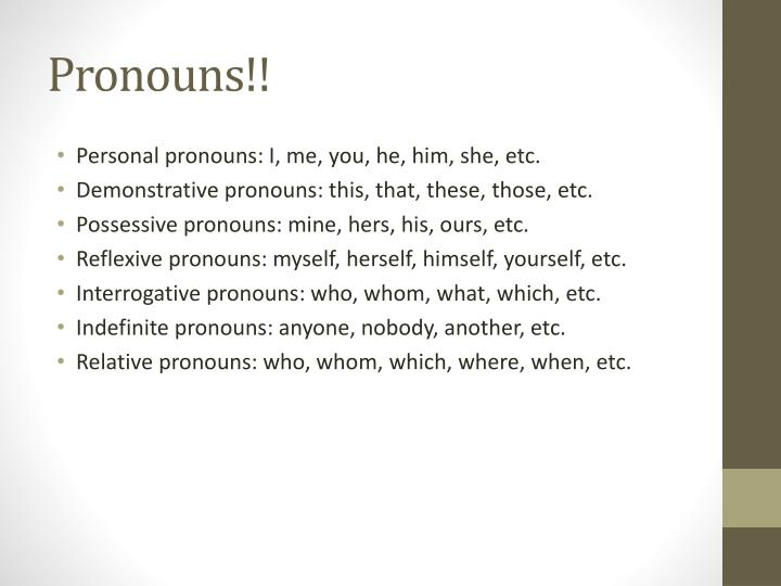 Pronouns!!