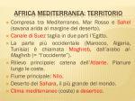 africa mediterranea territorio