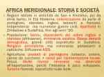 africa meridionale storia e societ