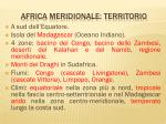 africa meridionale territorio
