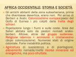 africa occidentale storia e societ