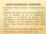 africa occidentale territorio