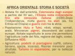 africa orientale storia e societ