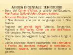 africa orientale territorio