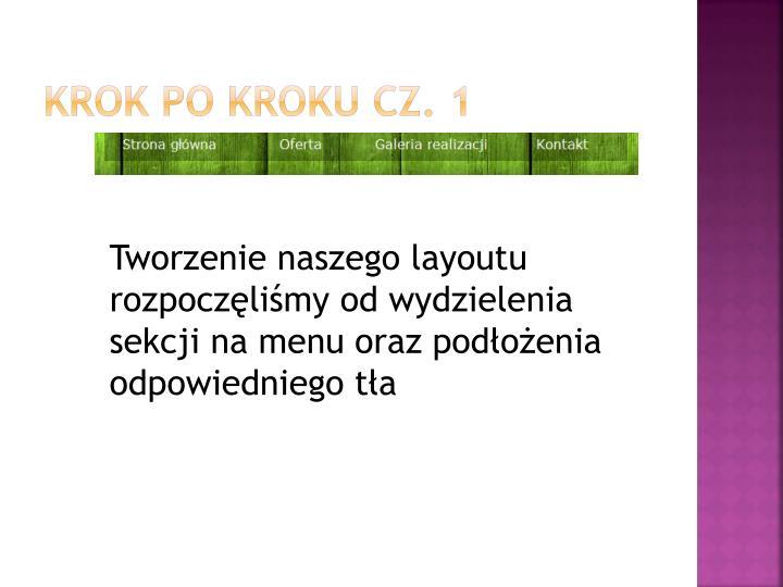 Krok po kroku cz. 1