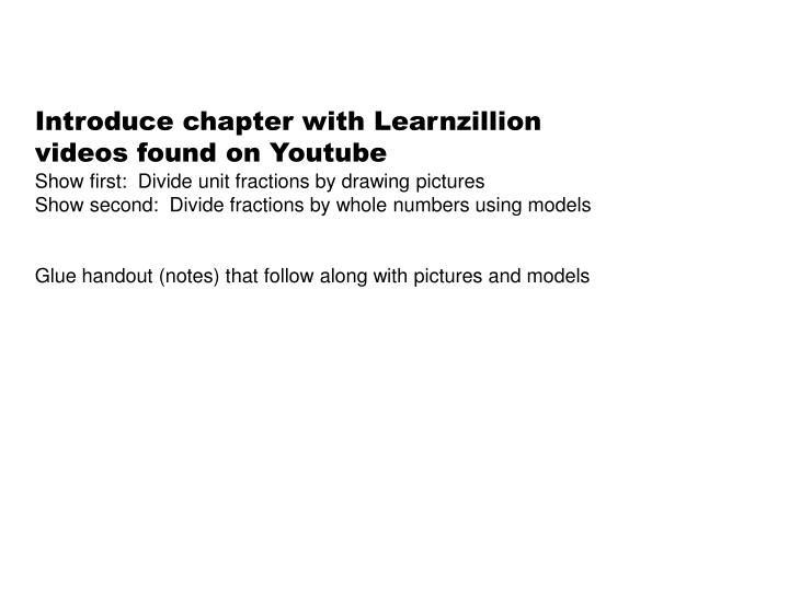 Introduce chapter with Learnzillion videos found on Youtube