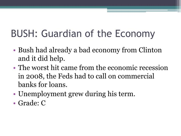 BUSH: Guardian of the Economy