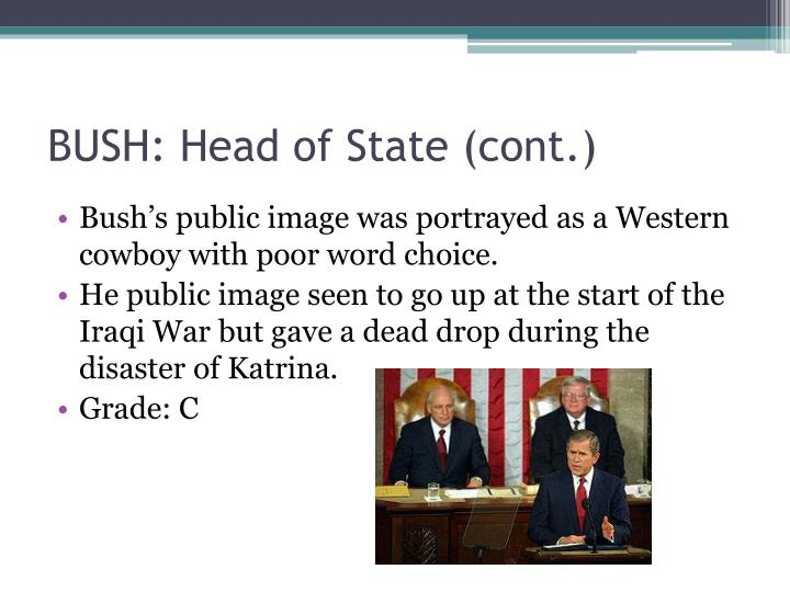 BUSH: Head of State (cont.)
