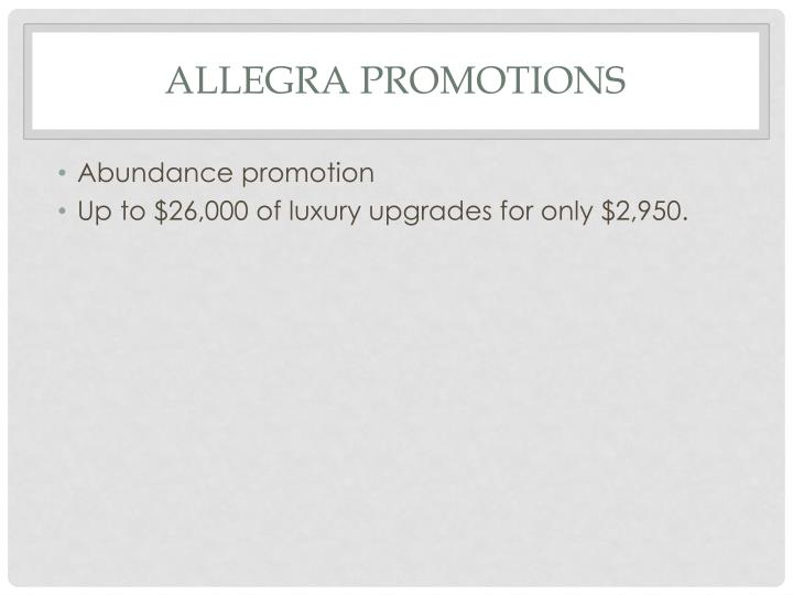Allegra promotions