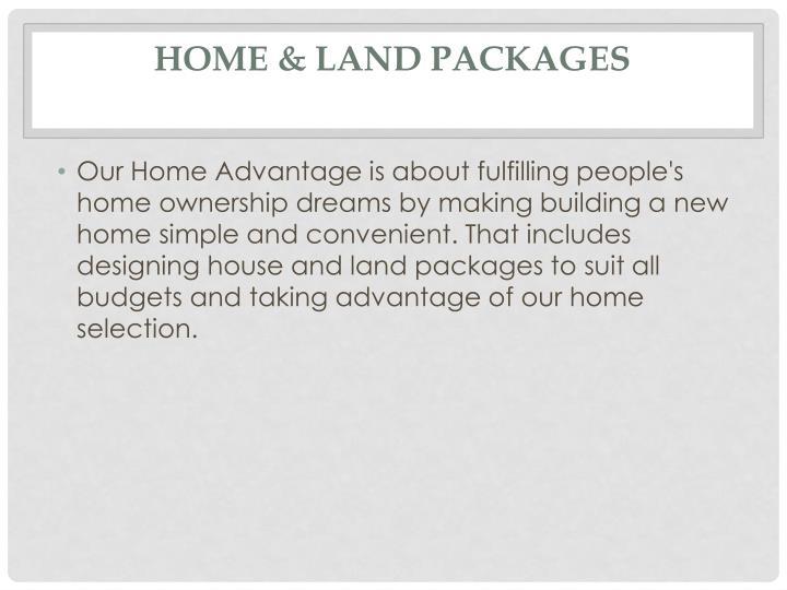 Home & Land Packages