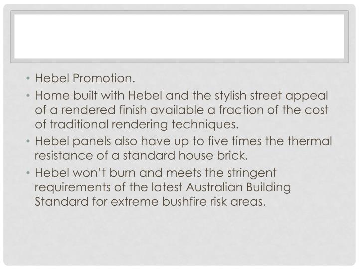 Hebel Promotion.